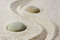 Japanese zen garden meditation stones Royalty Free Stock Photo