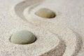 Japanese zen garden meditation stones