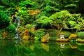 Japanese Zen Lake Botanical Garden, Feng Shuei Royalty Free Stock Photo
