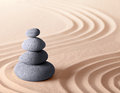 Japanese zen meditation garden Royalty Free Stock Images