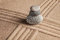 Japanese Zen stone garden Royalty Free Stock Photo