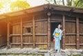 Japaneses enjoying sunshine after rain Royalty Free Stock Photo