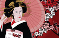Japanse geisha Royalty-vrije Stock Fotografie
