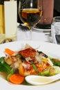 Japanse zeevruchtenmaaltijd Stock Foto's
