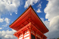Japnese building in kiyomizu temple at kyoto japan a fine day Stock Photo