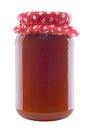 Jar of Apricot Jam Stock Photo