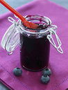 Jar of blueberry jam Stock Image
