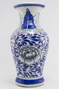 Pottery ceramic jug on isolated background Royalty Free Stock Photo