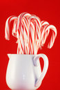 Jar of Candy Canes Stock Photo