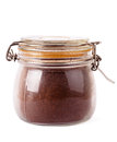 Jar with coffee Royalty Free Stock Image