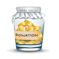 Jar with coins; donation concept Royalty Free Stock Images