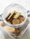 Jar of cookies Stock Photo