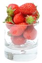 Strawberries in jar Royalty Free Stock Photo