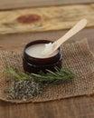 Jar of Herbal Beauty Salve Royalty Free Stock Photo