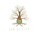 Jar of life vector design concept tree