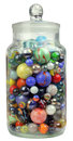 Jar of Marbles Royalty Free Stock Photo