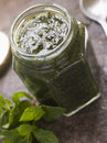 Jar of Mint sauce Stock Images