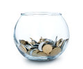 Jar of Money Isolated Royalty Free Stock Photo