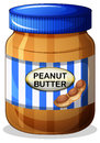 A jar of peanut butter illustration on white background Royalty Free Stock Images