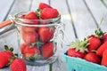 Jar of Strawberries Royalty Free Stock Photo