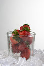 Jar of Strawberries and Ice Royalty Free Stock Photo