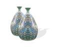 Jar vase adorn decorative isolated white background Stock Photos