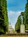 Jardin du luxembourg paris france park alley in Stock Photo