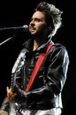 Jared Leto of 30 Seconds to Mars performing. Stock Photography