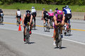 Jared woodford in the coeur d alene ironman cycling event id june triathlete on bike part of triathlon june idaho Stock Photo