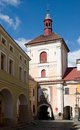 Jaromer czech republic city ​​gate with a bell tower in town eastern bohemia Royalty Free Stock Photography