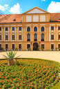 Jaromerice palace in southern moravia czech republic cathedral and gardens Royalty Free Stock Image