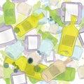 Jars and bottles seamless pattern Royalty Free Stock Image