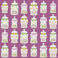Jars with confections seamless pattern Royalty Free Stock Image