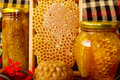 Jars of Honey Royalty Free Stock Photo