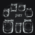 Jars with label Royalty Free Stock Photo