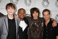 Jason Earles, Leo Howard, Dylan Riley Stock Images