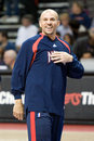 Jason kidd of the new jersey nets warms up before a game against the detroit pistons at the the palace of auburn hills during the Royalty Free Stock Images