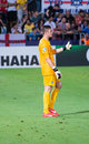 Jason steele thumb up in englands national team under israel Royalty Free Stock Images