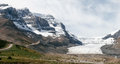 Jasper alberta canada august athabasca glacier in jasper national park on Royalty Free Stock Images