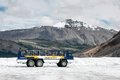 Jasper alberta canada august snow coach on the athabasca glacier in national park unidentified Stock Photography