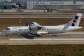 Jat airways atr at istanbul atatürk airport Stock Images