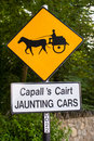Jaunting cars sign irish in the ring of kerry ireland Stock Photos