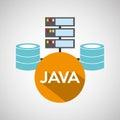 Java language data base storage Royalty Free Stock Photo