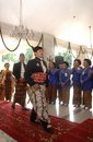 Javanese aristocracy the of former surakarta royal kingdom while on annual throne anniversary at solo java indonesia Stock Image