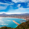 Javea in alicante aerial view valencian community of spain with mediterranean sea Royalty Free Stock Photography