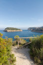 Javea bay costa blanca a view of in spain Royalty Free Stock Images