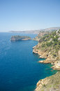 Javea coastline rugged at cabo de la nao spain Royalty Free Stock Photos