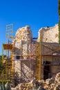 Javea denia mediterranean tower masonry improvement construction in spain Stock Photography