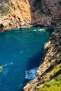 Javea sea mediterranean and rocks Stock Images
