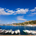 Javea xabia marina club nautico in alicante spain mediterranean of Royalty Free Stock Images